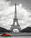 Paris - Red Car Prints