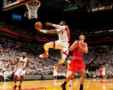 Miami, FL - May 15: Dwyane Wade and Joakim Noah Photographic Print by Issac Baldizon