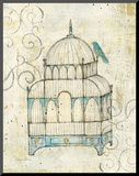 Bird Cage II Mounted Print by Avery Tillmon