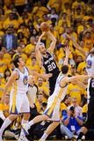 Oakland, CA - May 16: Manu Ginobili, Andrew Bogut, Klay Thompson and Jarrett Jack Photographic Print by Noah Graham