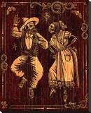Danzantes Stretched Canvas Print by Marco Almera