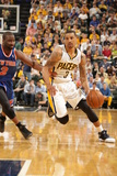 Indianapolis, IN - May 14: George Hill and Raymond Felton Photographic Print by Ron Hoskins