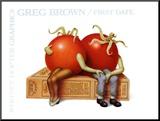 First Date Monteret tryk af Greg Brown