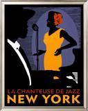 La Chanteuse de Jazz Print by Johanna Kriesel