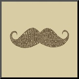 Mustache Styles Mounted Print