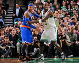 Boston, MA - January 24: Kevin Garnett and Carmelo Anthony Photo by Brian Babineau