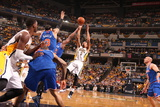 Indianapolis, IN - May 14: George Hill and Raymond Felton Photographic Print by Nathaniel S. Butler