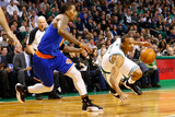 Boston, MA - January 24: Avery Bradley and J.R. Smith Photographic Print by Jared Wickerman