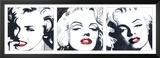 Marilyn Triptych Poster by Irene Celic