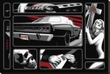 Death Ride 68 Stretched Canvas Print by Marco Almera