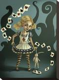 Miss Wonderland Stretched Canvas Print by Diana Levin