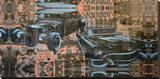 Kustom Nation Opspændt lærredstryk af Marco Almera