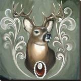 Deer Stretched Canvas Print by Thea Fear