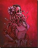 Medusa Calaca Stretched Canvas Print by David Lozeau