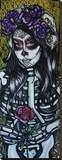 Day of the Dead Rose Stretched Canvas Print by Brittany Hanks