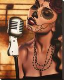 Mi Cancion Stretched Canvas Print by Daniel Esparza