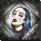 Angelina Stretched Canvas Print by  Shayne of the Dead