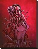 Medusa Calaca Stretched Canvas Print by David Lozeau