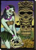 Tiki Stretched Canvas Print by Allan Graves