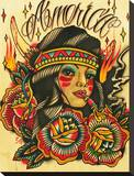 America Stretched Canvas Print by Johnny Gargan