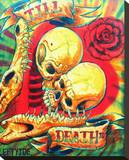 Till Death Stretched Canvas Print by  Lefty Joe