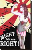 Might Makes Right Stretched Canvas Print by  Shayne of the Dead