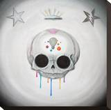 Deep in the Skull Stretched Canvas Print by  Sugar Fueled