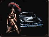 Merc Muertos Stretched Canvas Print by Marco Almera