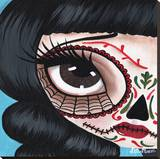 Day of the Dead No. 10 Stretched Canvas Print by Dottie Gleason