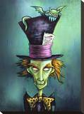 Mad Hatter Stretched Canvas Print by Diana Levin