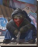 Gangsta Teddy Stretched Canvas Print by Preston Craig
