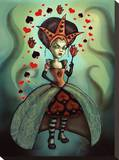 Levin Queen of Hearts Stretched Canvas Print by Diana Levin