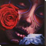 Amor Eterno Stretched Canvas Print by Daniel Esparza