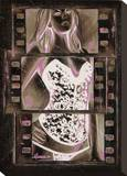 Film Strip Stretched Canvas Print by Marco Almera
