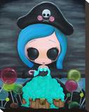 Lollipirate Stretched Canvas Print by  Sugar Fueled