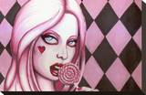 Lollipop Stretched Canvas Print by  Shayne of the Dead