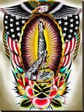 American Legs Stretched Canvas Print by Tyler Bredeweg