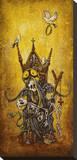 La Pieta Stretched Canvas Print by David Lozeau