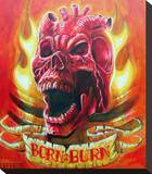 Burn 2 Burn Stretched Canvas Print by  Lefty Joe