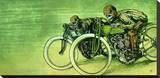 David Lozeau - Board Track Racers - Şasili Gerilmiş Tuvale Reprodüksiyon