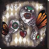 Our Heart Stretched Canvas Print by Abril Andrade