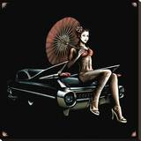Caddy Geisha Stretched Canvas Print by Marco Almera
