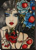 Poison Apple Stretched Canvas Print by Brittany Hanks