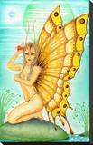Butterfly Alien Stretched Canvas Print by Carlos Fox Lopez