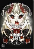 My Little Vampire Stretched Canvas Print by Miss Cherry Martini