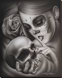 Hasta la Muerte Stretched Canvas Print by  Spider