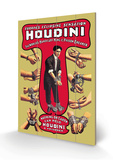 Houdini: The World's Handcuff King and Prison Breaker Wood Sign