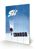 Ski Canada Wood Sign by P. Ewart