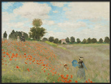 Poppy Field, Near Argenteuil, c.1873 Prints by Claude Monet