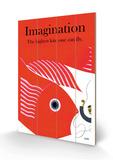 Fantasi, på engelsk Træskilt